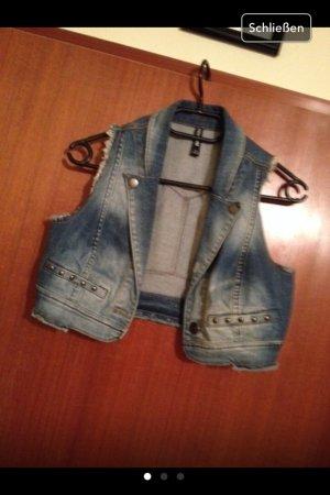 Kurze Lockere Jeansweste