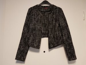 kurze offene Jacke / Blazer in Bouclé Optik von Tom Tailor Denim Gr S