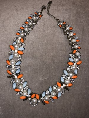 Kurze Perlen Kette Statement Perlen Silber Blogger Gucci Chanel style