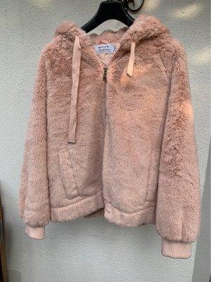 Hailys Fake Fur Jacket pink