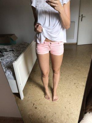 Kurze rosane Jeans Shorts