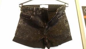 Kurze schwarze Hose von pieces im Used-Look