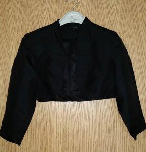 Kurze schwarze Jacke mit langen Ärmeln für die Abendgarderobe