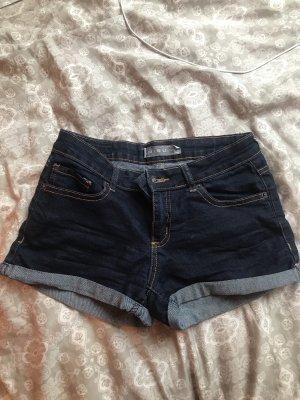 Amisu Short moulant bleu foncé