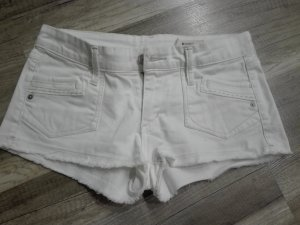 H&M Pantalón corto de tela vaquera blanco Algodón