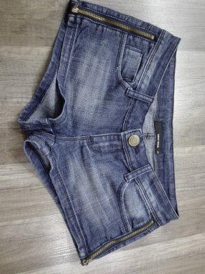 Tally Weijl Pantalón corto de tela vaquera azul oscuro Algodón