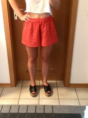Kurze Shorts Sommer Hose Größe S rot orange