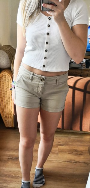 American Eagle Outfitters Hot pants beige Cotone