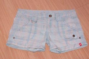 edc Pantalón corto de tela vaquera azul claro