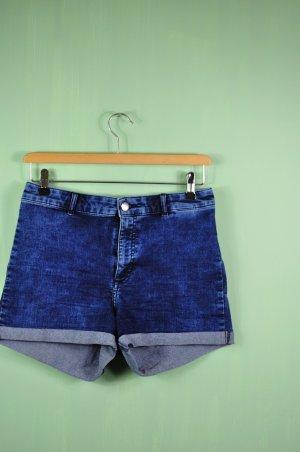 Kurze Shorts von H&M im Used Look