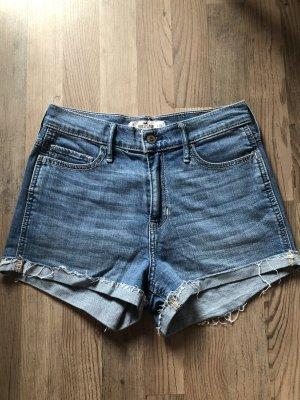 Kurze Shorts von Hollister High Waist denim