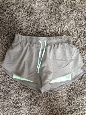 H&M Sport Shorts light grey-mint