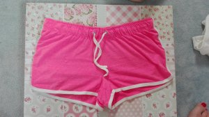Kurze Sporthose pink