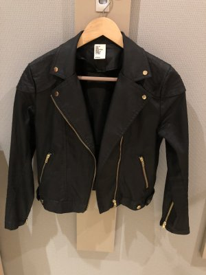 H&M Biker Jacket black cotton