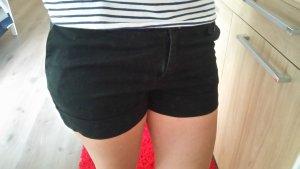 Kurze Stoffshorty Größe 36 / S in schwarz