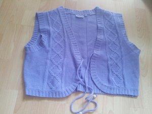Smanicato lavorato a maglia multicolore Acrilico