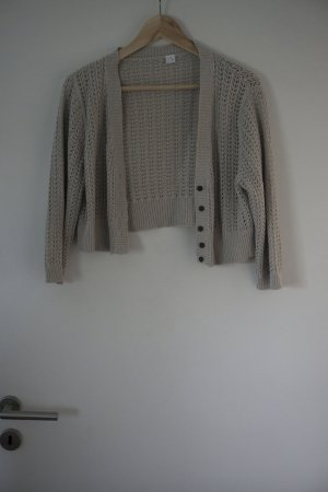 Short Sleeve Knitted Jacket gold-colored cotton