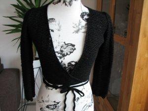 Ischiko Bolero lavorato a maglia nero