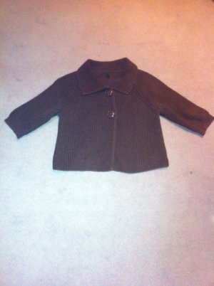 Benetton Short Sleeve Knitted Jacket black brown