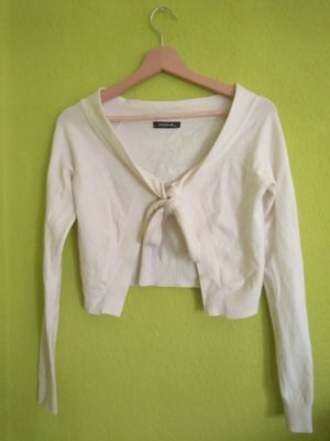 Knitted Bolero white angora wool