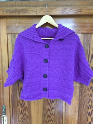 Blacky Dress Short Sleeve Knitted Jacket lilac
