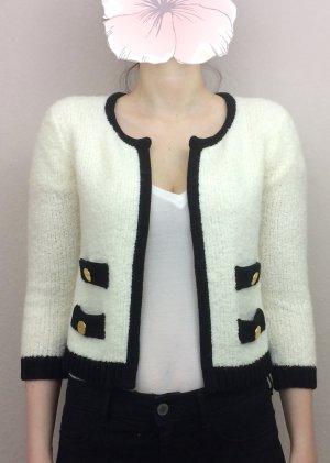 Kurze Strickjacke Knit Cardigan Creme weiß schwarz Topshop