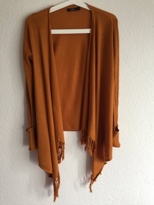 kurze Strickjacke *Zara* senfgelb, asymmetrisch