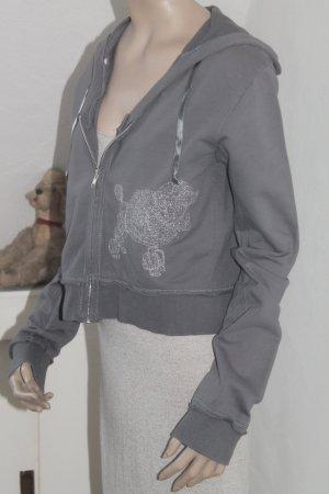 kurze Sweatjacke mit aufgesticktem Pudel * Größe L * einmal getragen * wie neu *