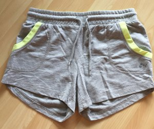 only play Sweat Pants light grey-neon yellow cotton