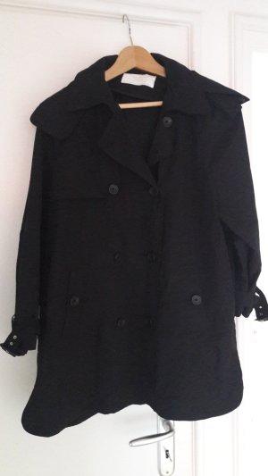 Zara Woman Overgangsjack zwart Gemengd weefsel