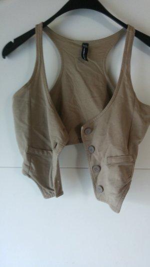 Blind Date Veste chemise brun sable