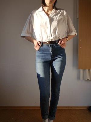 Vintage Blouse met korte mouwen wit