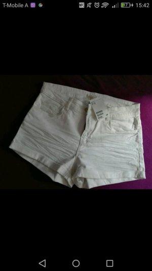 Kurze weiße Hot Pant
