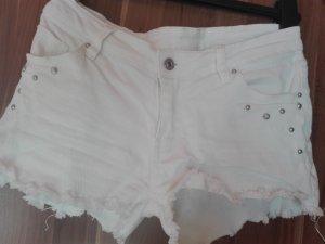 kurze weiße Hotpants