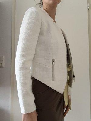 Kurze weiße Jacke - Größe 36