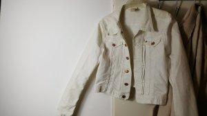 Kurze weiße jeansjacke