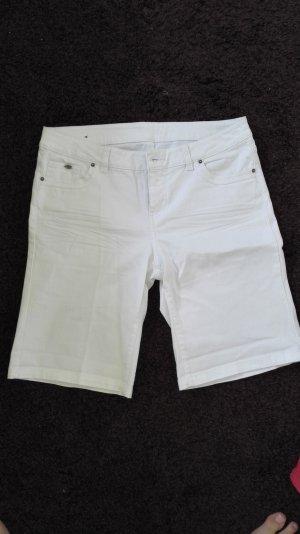 Kurze weiße Jeansshorts