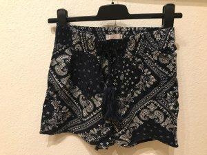 FB Sister Pantalón corto blanco-azul oscuro Algodón