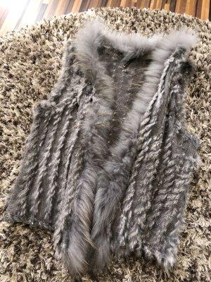 Soyaconcept Smanicato di pelliccia grigio-argento