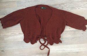 Wraparound Blouse brown red