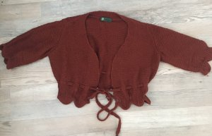 Wraparound Blouse brown red
