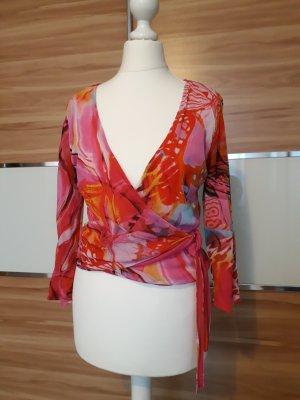Alba Moda Wraparound Blouse multicolored