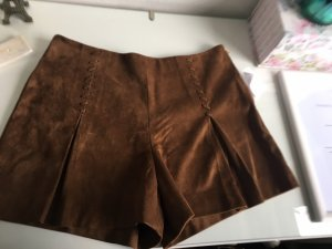 Mango High-Waist-Shorts brown