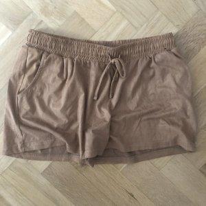 kurze Wildlederoptik Shorts
