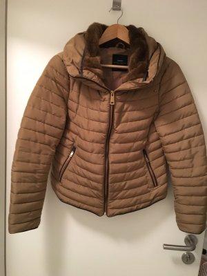 Zara Basic Winterjack lichtbruin-bruin
