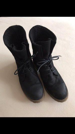5th Avenue Korte laarzen zwart-lichtbruin