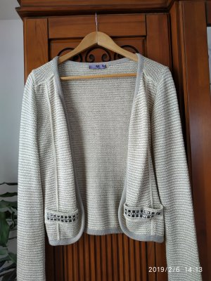 B&C collection Chaqueta de lana gris claro-beige claro