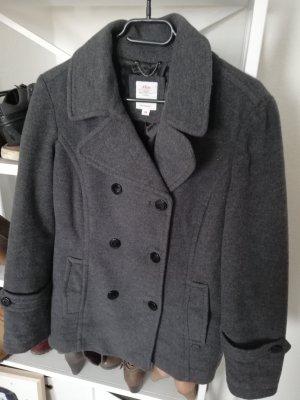 kurze Wolljacke - grau - Größe 40