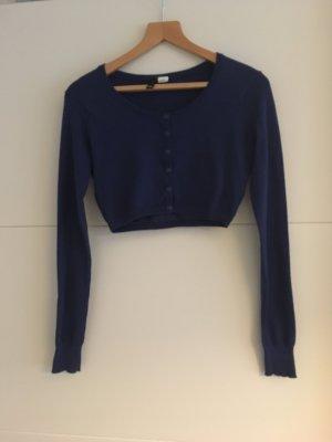 Kurzer, blauer, geknöpfter Bolero, H&M, Größe 38