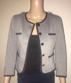 H&M Blazer corto gris-negro